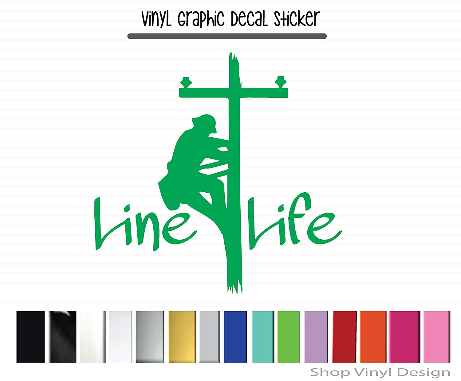 Made To Order Line Life Vinyl Vinyl Graphic Decal Sticker for Vehicle Car Truck SUV Window Laptop Cooler Planner Locker Safe Handmade Decal High Quality Outdoor Rated Vinyl