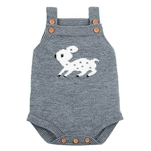 6a7cfae426a5 Amazon.com  kaiCran Toddler Newborn Baby Boys Girls Knitted Onesie ...
