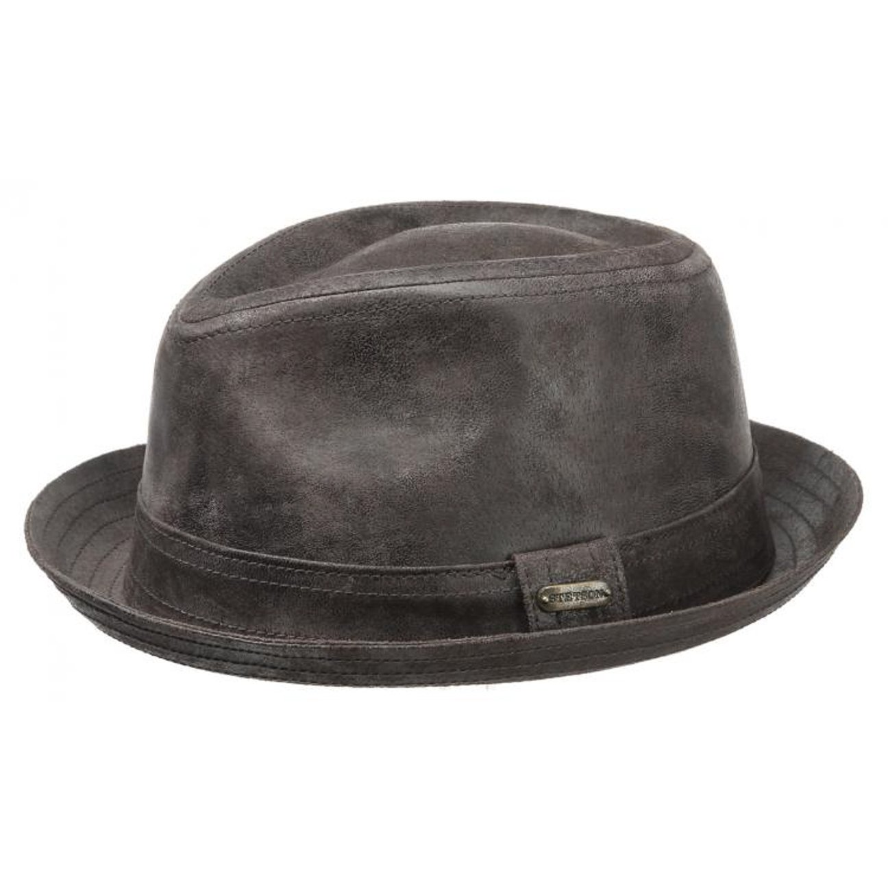 Stetson Radcliff Leather Player trilby hat