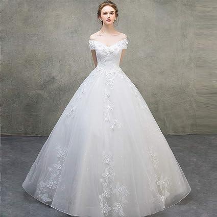 36214d0c29 Vestidos de novia de novia Palace Una línea de escote en V Vestidos  sencillos hasta el ...