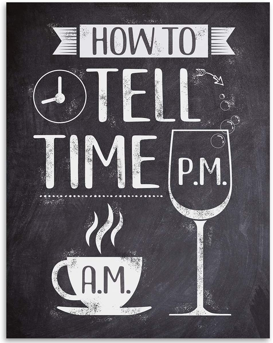 How To Tell Time - 11x14 Unframed Art Print - Great Bar/Coffee Shop Decor