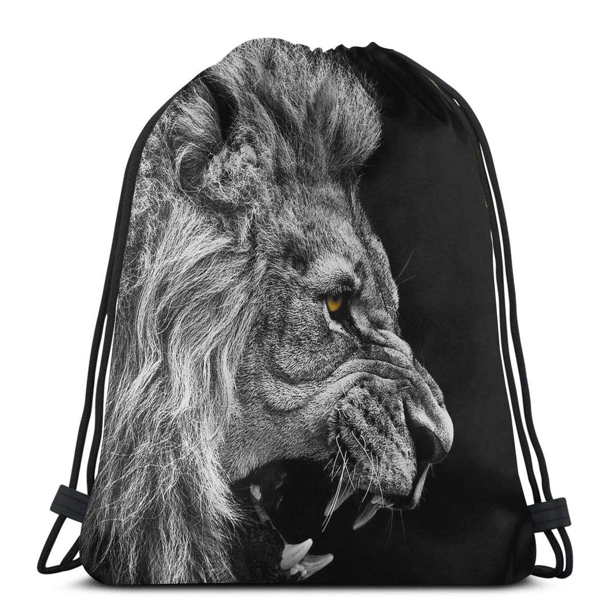 Drawstring Bags Head Of Lion Sport Gym Tennis Casual Daypack Backpacks Swimming Hiking Yoga Portable Travel For Women And Men