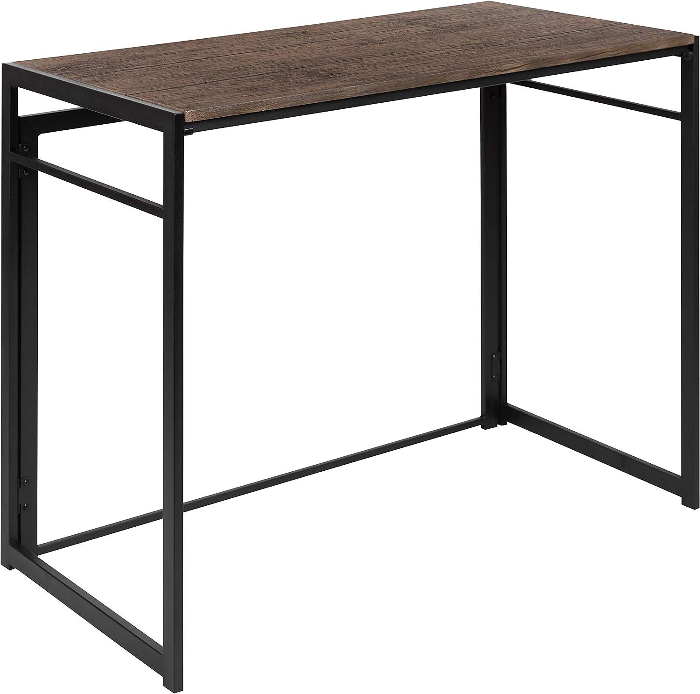 "Flash Furniture Rustic Home Office Folding Computer Desk - 40"""