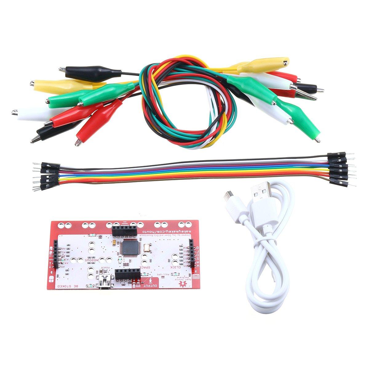 EsportsMJJ Alligator Clip Jumper Wire Standard Controller Board Kit for Makey Makey Science Toy