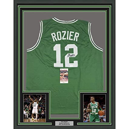 info for 5ace0 e2f17 Signed Terry Rozier Jersey - FRAMED 33x42 Green COA - JSA ...