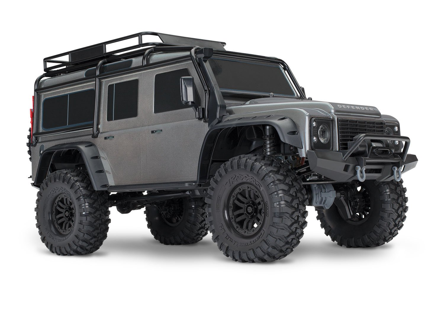 Traxxas 1/10 Scale TRX-4 Scale and Trail Crawler with 2.4GHz TQi Radio, Silver