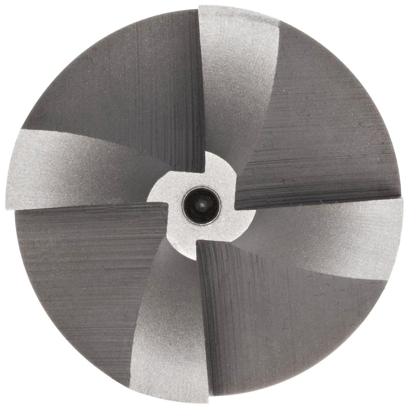 Uncoated YG-1 E2237 Cobalt Steel Corner Rounding End Mill 1 Shank Diameter 4 Flutes Non-Center Cutting 4.25 Overall Length Bright Finish 1.9375 Cutting Diameter Weldon Shank