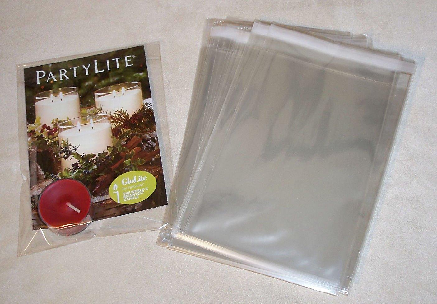 Lip/Tape Self Sealing Cello Polypropylene Bags 100 Bags 8 X 10
