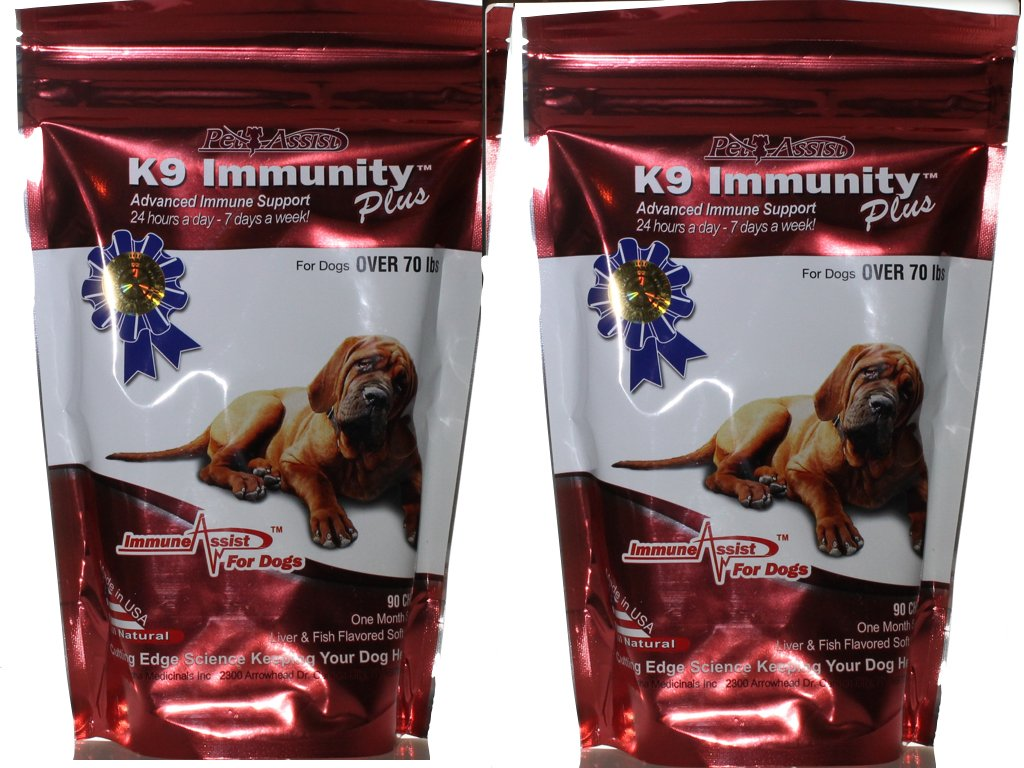 Aloha Medicinals - K9 Immunity Plus - Potent Immune Booster for Dogs Over 70 Pounds - 2 Pack (2 Month Supply)