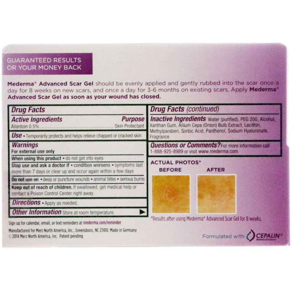Amazon Com Mederma Gel 20 G Pack Of 2 Scar Reducing