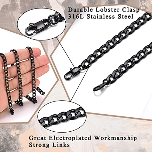 FidgetKute Top 316L Stainless Steel Heavy Link Silver Curb Cuban Chain Men Necklace 8-40 15mm 20inches or 51cm