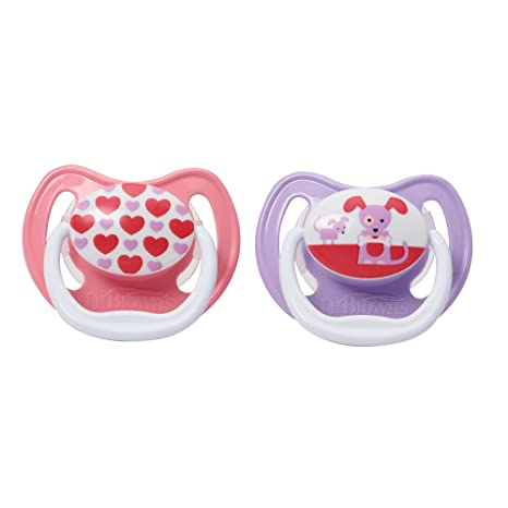 Dr. Browns PreVent Design Pacifier, Girls, Stage 1, 0-6 ...