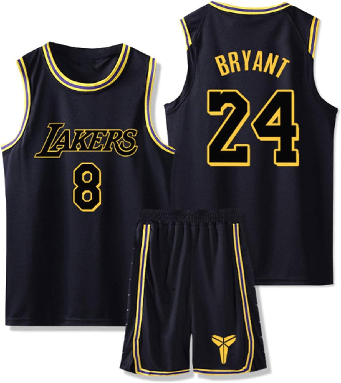 Kobe Jersey 24 Children and Youth Vest Sports Training Basketball Uniform Set