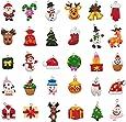 kockuu 30pcs Mini Christmas Ornaments, Resin Design with Santa Clause, Snowman, Angle and More Ornaments