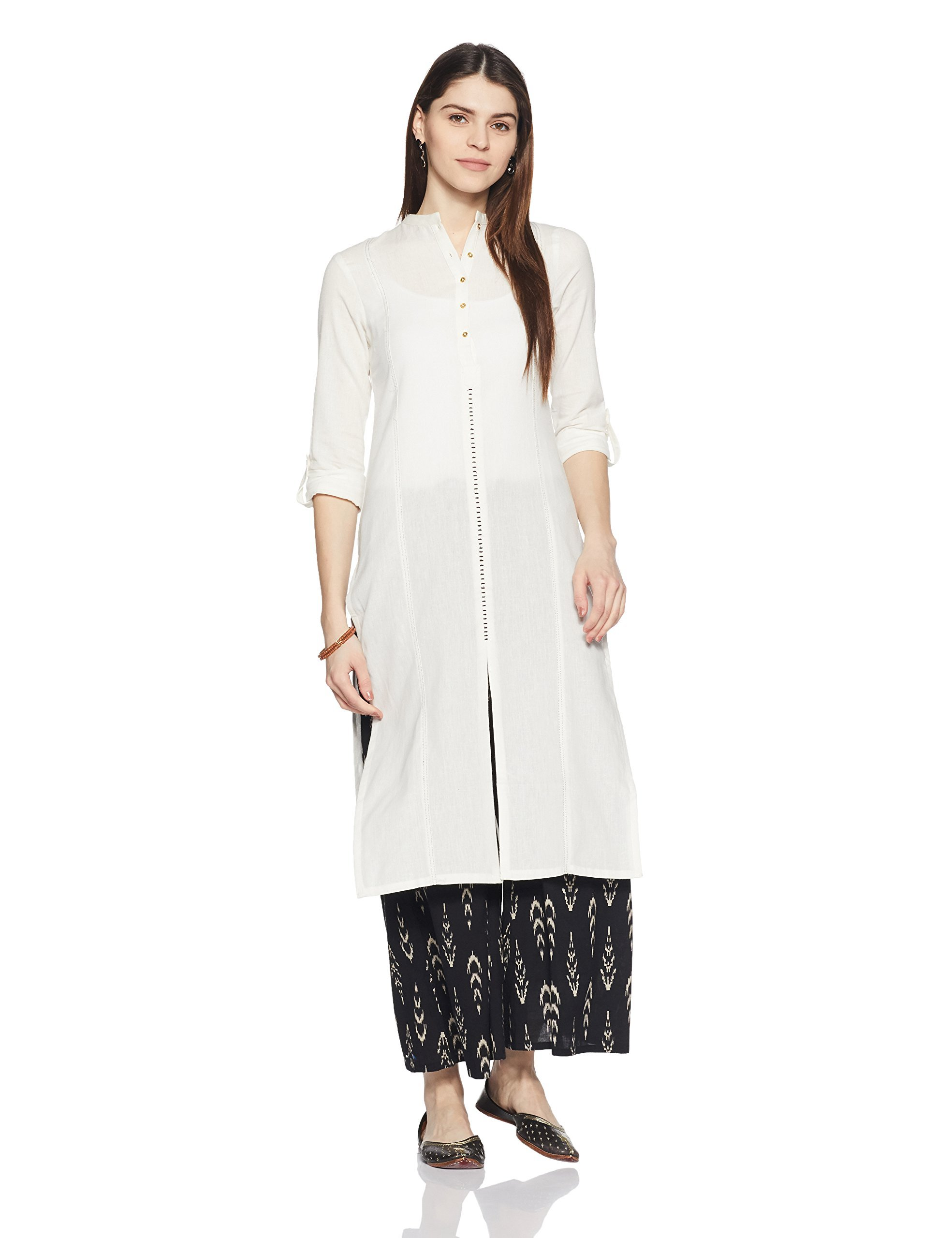 W for Woman 3/4th Sleeve Classic Casual Indian Kurti for Women