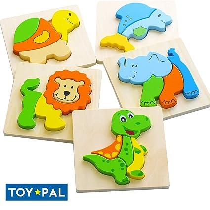 Amazon.com: Juguete Pal Puzzles de madera para niños, juego ...