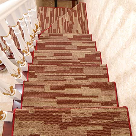 Alfombras Para Escaleras Conjunto De 13 Antideslizante Alfombras Para Escaleras Alfombras De Alfombras De Escalera Interiores Perro Del Animal Doméstico Peldaños Para Escaleras -b 80x24cm(31x9inch): Amazon.es: Hogar