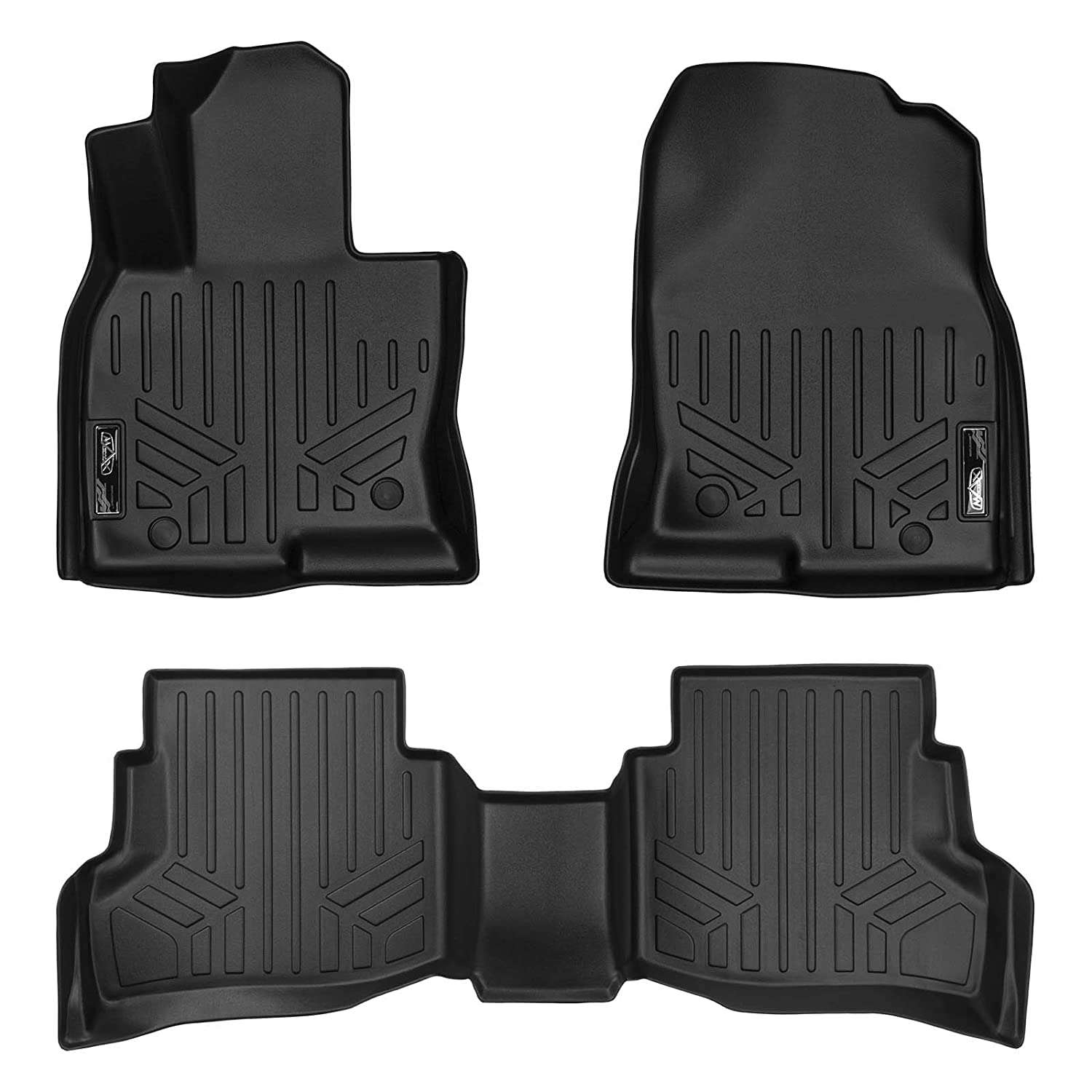 MAX LINER A0257//B0257//C0257 MAXFLOORMAT Floor Mats 3 Row Set Black for 2016-2017 Mazda CX-9