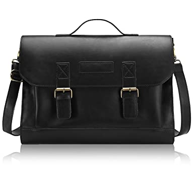 Amazon.com | Bagerly Mens Vintage Leather Messenger Cross Body ...