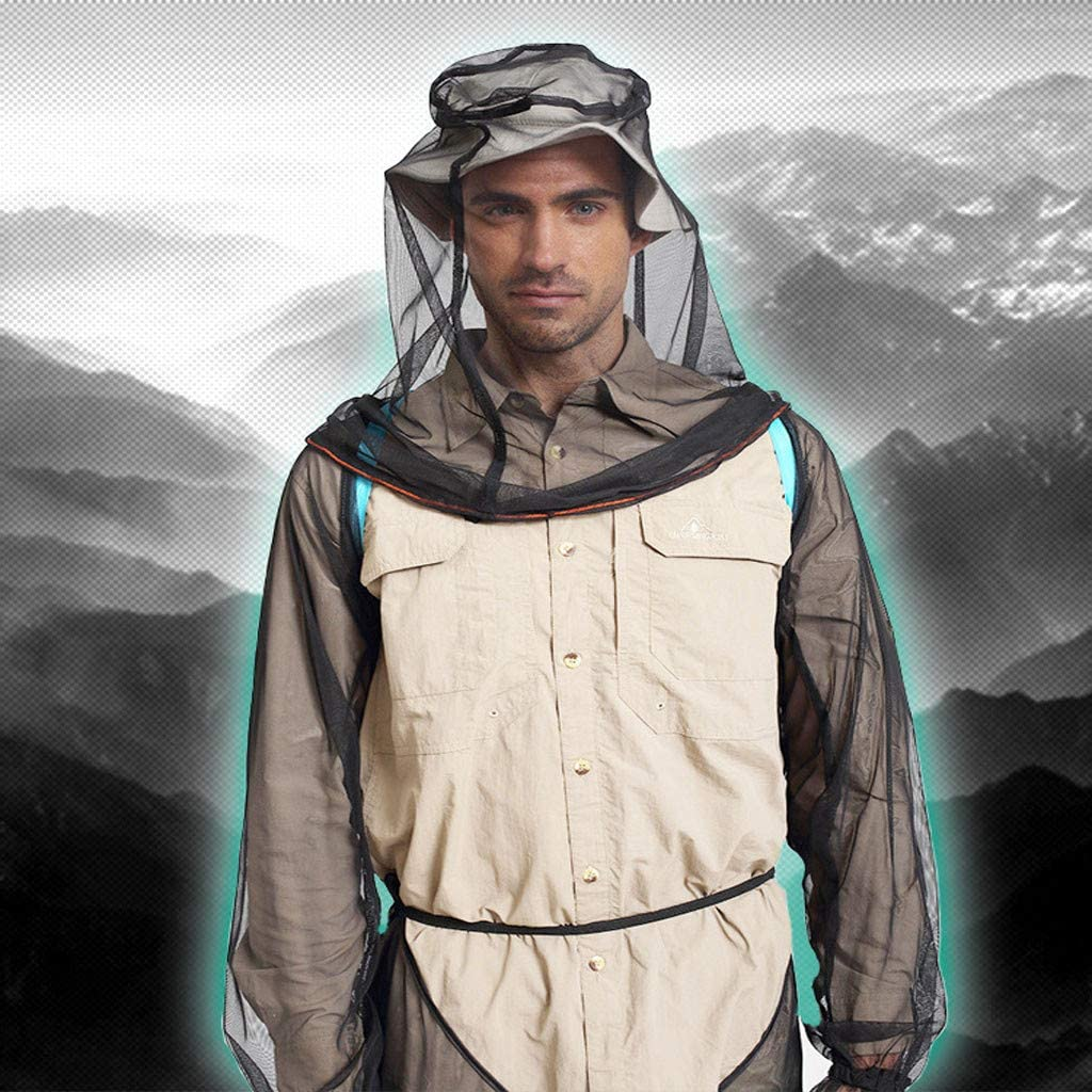 Flyalone⭐ Bug Jacket Mosquito Suit Unisex Ultra-fine Mesh Summer Bug Wear for Fishing Hiking Camping Gardening Anti-Mosquitoes Suit,Lightweight Bug Mosquito Suit Wear Ultra-fine Mesh for Men Women