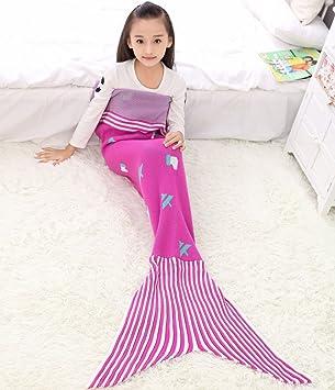Regalo de cumpleaños para cuatro temporadas en la Sirenita Manta saco de dormir sofá mantas niños