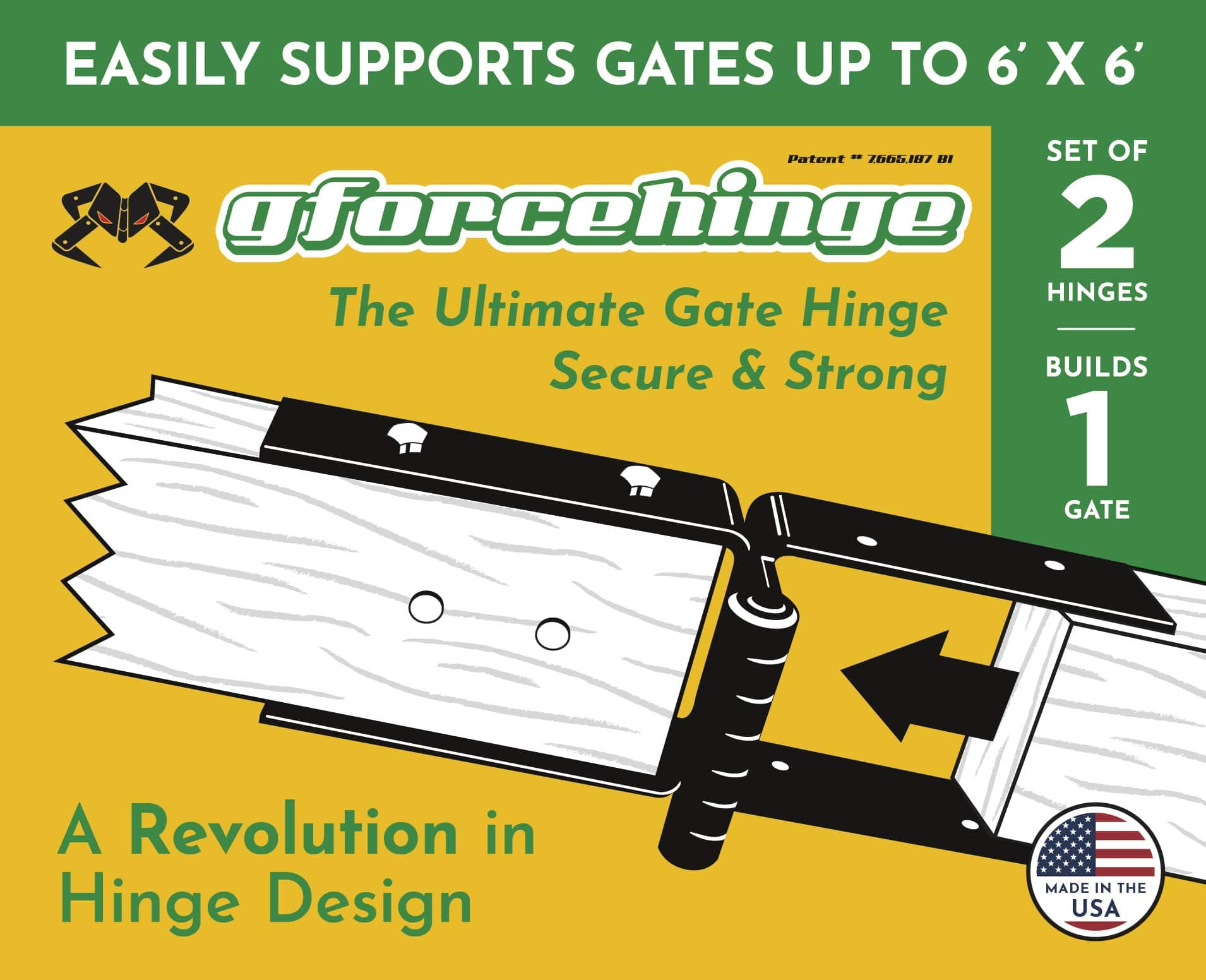 Wood Gate Hinges - Build A Wood Gate The Easy Way - A Revolution in Gate Hinge Design - One Person Install