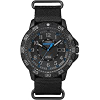 Timex TW4B03500 Expedition Men's 44mm Rugged Resin Gallatin Watch (Black/Blue)