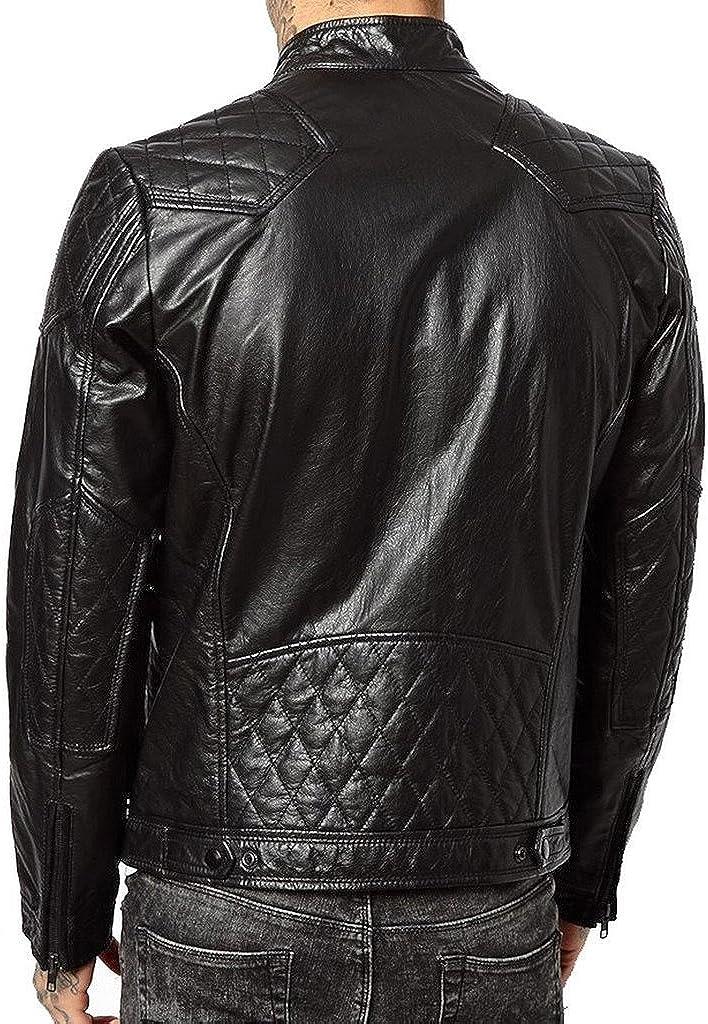 New Leather Motorcycle Lambskin Jacket Slim Fit Coat LT567