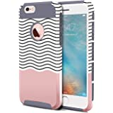iPhone 6 Plus Case,iPhone 6s Plus Case,BENTOBEN Ultra Slim iPhone 6 Plus Covers Hard Shell Soft TPU Dual Layer Shockproof Wave Hybrid Protective Covers for iPhone 6 Plus iPhone 6s Plus,Gray