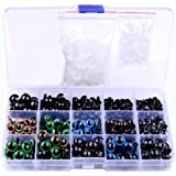 264 Pcs 6~12mm Colorful Safety Eyes Plastic Safety Eyes Plastic Eyes with Washers for Doll, Puppet, Plush Animal