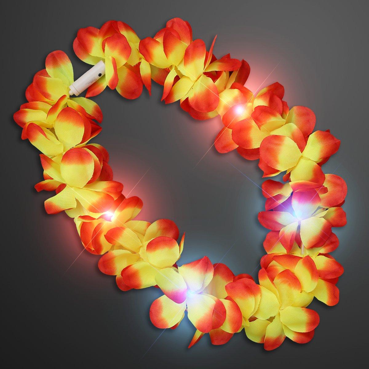 Large Assorted Light Up Hawaiian Leis with Flashing LED Lights (Set of 24) by FlashingBlinkyLights (Image #3)