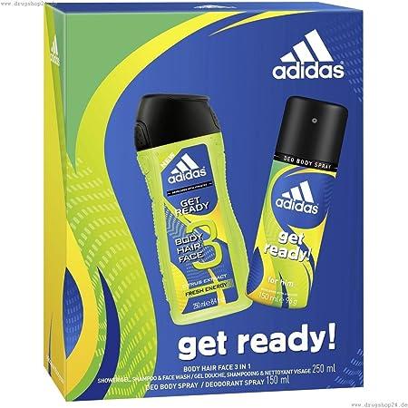 Estuche Adidas Desodorante Get Ready 150 ml + Champú 250 ml: Amazon.es: Belleza