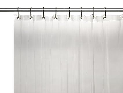 Carnation Home Fashions 8 Gauge Vinyl Shower Curtain Liner X Long 72