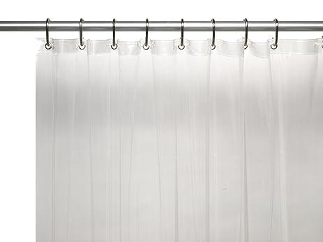 Carnation Home Fashions 8 Gauge Vinyl Shower Curtain Liner, X Long, 72