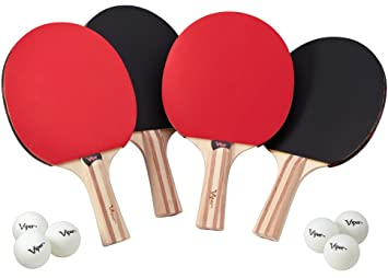 Viper 6 RacketsPaddles and Tennis Set4 Table Accessory BrCedxo