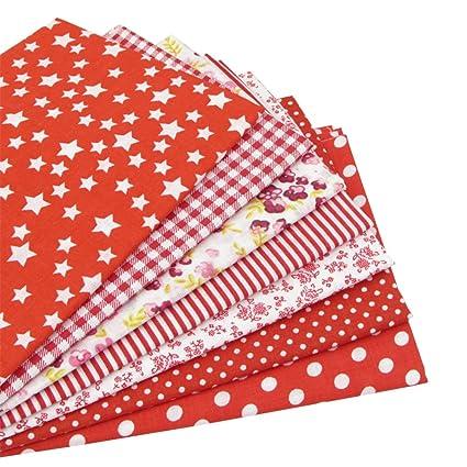 7 piezas 49cm * 49cm tela de algodón rosa para patchwork ...