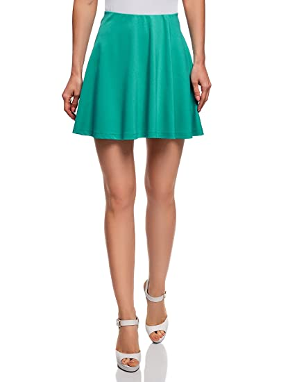 oodji Ultra Mujer Falda de Punto con Cinturón Elástico: Amazon.es ...