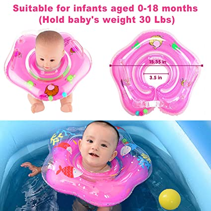 Helpful Baby Summer Neck Ring Toddler Infant Inflatable Bathing Float Circle Safe Bathing & Grooming