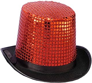 Forum Novelties Men's Sequin Novelty Top Hat Blue One Size Forum Novelties Costumes 59358