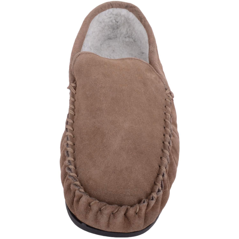 Zapatillas de andar por casa para hombre tipo mocasín con forro polar en el interior y suela de goma antideslizante: Amazon.es: Zapatos y complementos