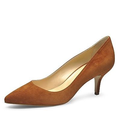 17e76d189d1 Evita Shoes Giulia Damen Pumps Rauleder Cognac 34: Amazon.de: Schuhe ...