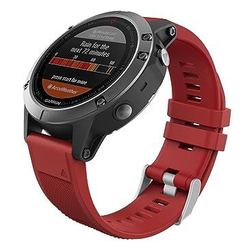 MoKo Garmin Fenix 6/Fenix 6 Pro/Fenix 5 Banda, Silicona Reemplazo Correa con 2pzs Destornilladores para Garmin Forunner 935 Smart Watch, ...