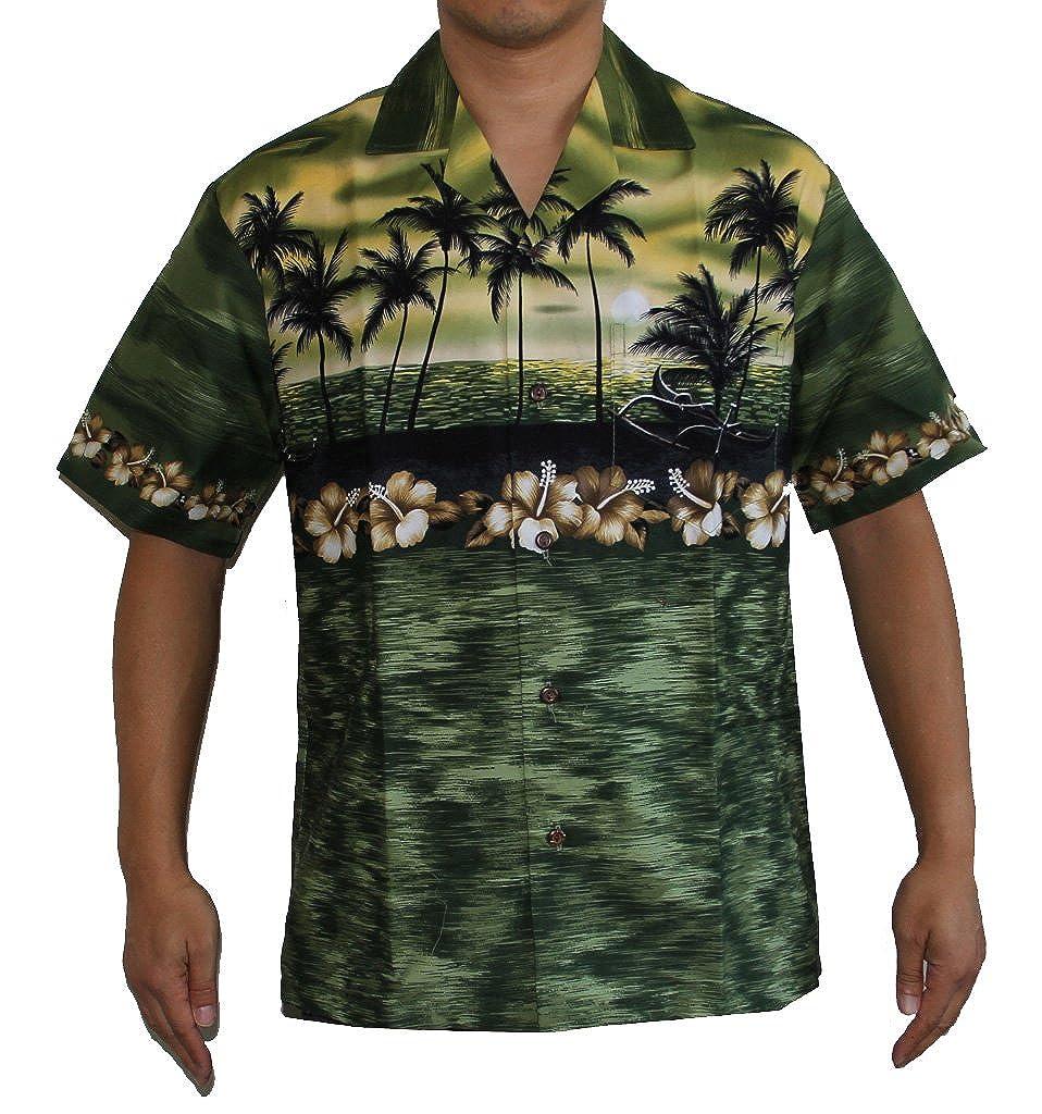 f3f4b1c0a Alohawears Clothing Company Make in Hawaii! Men's Island Sunset Hawaiian  Aloha Shirt at Amazon Men's Clothing store: