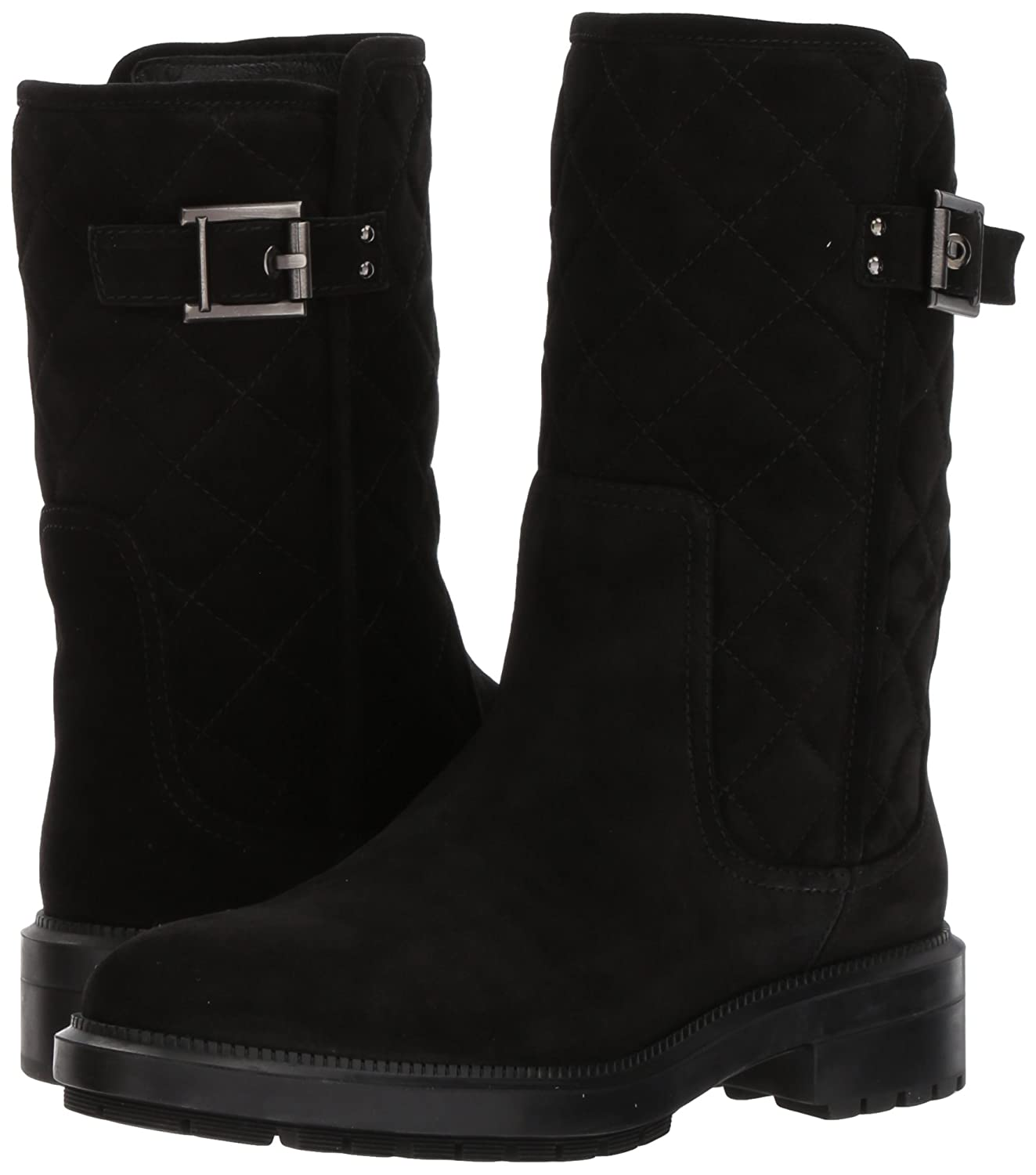 Aquatalia Women's Layla Suede Motorcycle Boot B06XNWVW8D 10.5 B(M) US|Black