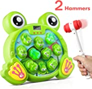 Bu-buildup Whack a Frog Activity Game, Early Development Toy with Light and Sound, Baby Interactive Fun Toy, Gift for Kids A