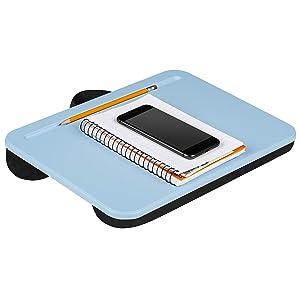 LapGear Compact Lap Desk - Alaskan Blue - Fits Up to 13.3 Inch Laptops - Style No. 43103