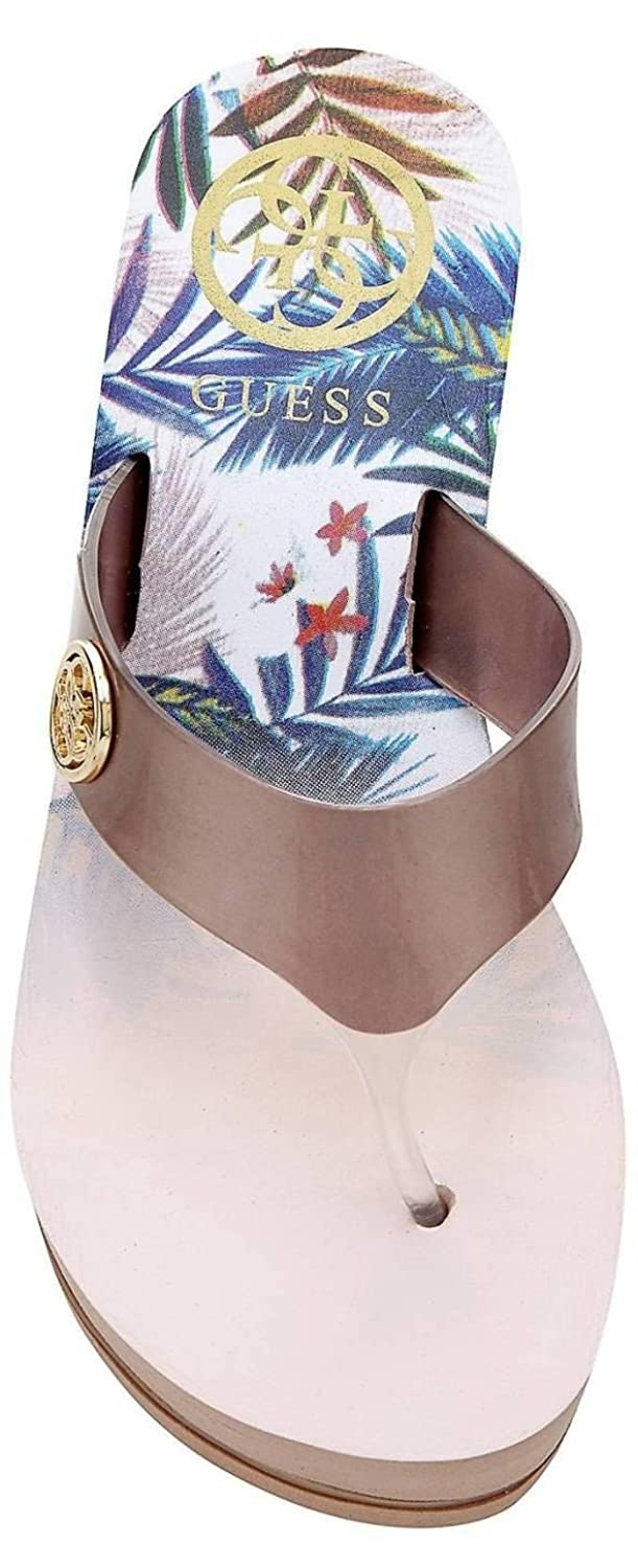 447e11dd3fd7  Guess Shadia2 Nude Gold Womens Wedge Flip Flops  Amazon.co.uk  Shoes   Bags