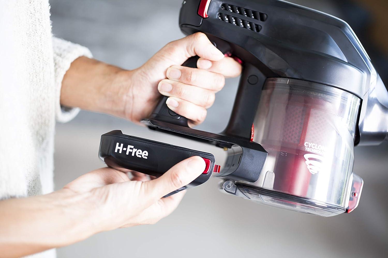 bater/ía de Iones de Litio 18V color gris con accesorio extra especial mascotas hasta 25 Minutos de autonom/ía Hoover H-Free HF18DPT Aspirador escoba sin cable y de mano 2-in-1