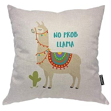 Amazon.com: Moslion Llama - Funda de almohada con diseño de ...