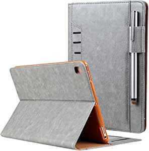 New iPad Pro 11 Case 2018,Jennyfly Smart Auto Wake/Sleep Lightweight Built-in Pencil Slot and Card Slots & Money Pocket Hand Free Stand Protective Cover Business Case for 2018 iPad Pro 11 Inch - Gray